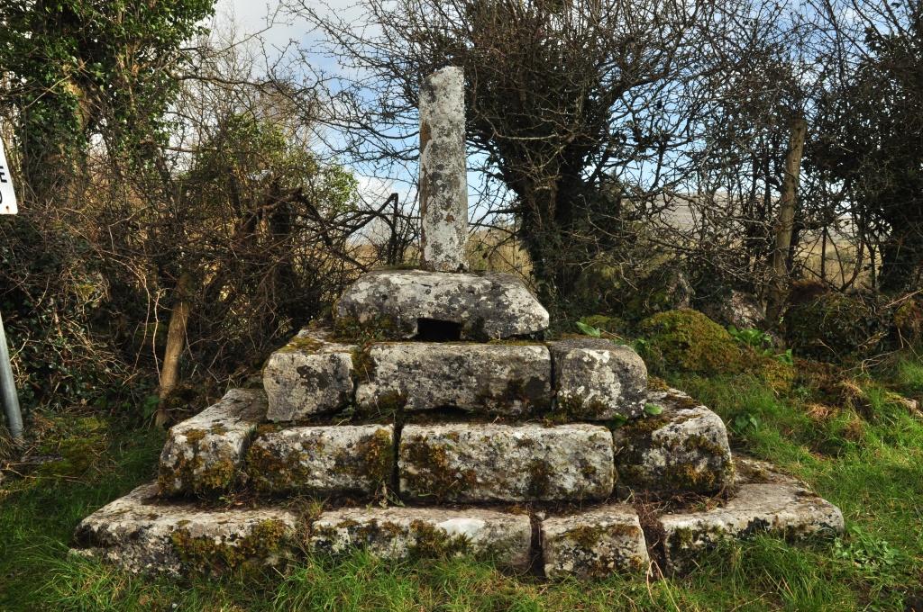 Burren Holy Well marker cross Glencolmcille