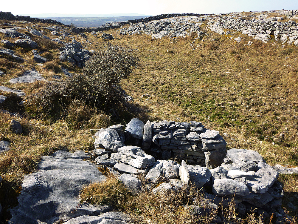 Colmcille Holy Well in Fanore - location - Burren Holy Wells